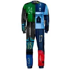 Door Number Pattern Onepiece Jumpsuit (men)
