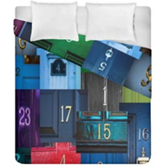 Door Number Pattern Duvet Cover Double Side (california King Size)