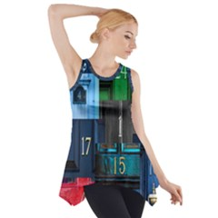 Door Number Pattern Side Drop Tank Tunic