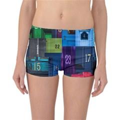 Door Number Pattern Reversible Bikini Bottoms