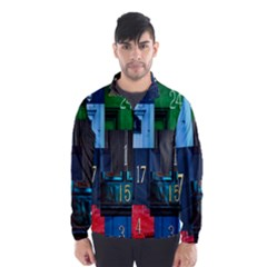 Door Number Pattern Wind Breaker (Men)