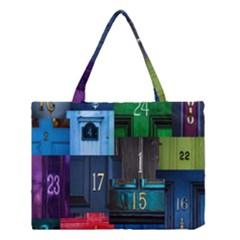 Door Number Pattern Medium Tote Bag