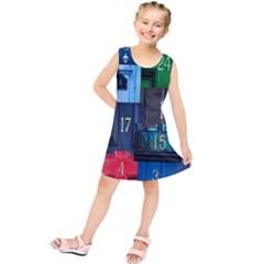 Door Number Pattern Kids  Tunic Dress