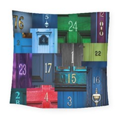 Door Number Pattern Square Tapestry (large)