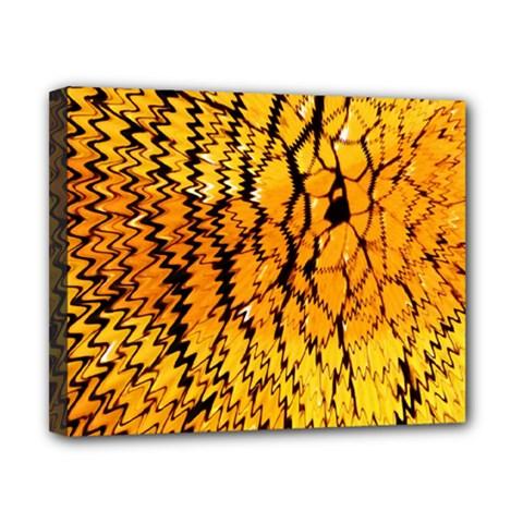 Yellow Chevron Zigzag Pattern Canvas 10  X 8