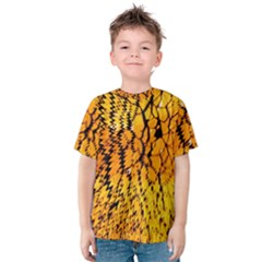Yellow Chevron Zigzag Pattern Kids  Cotton Tee
