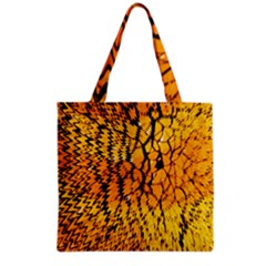 Yellow Chevron Zigzag Pattern Grocery Tote Bag