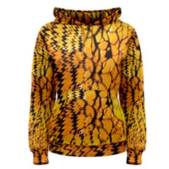 Yellow Chevron Zigzag Pattern Women s Pullover Hoodie