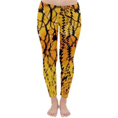 Yellow Chevron Zigzag Pattern Classic Winter Leggings