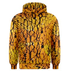 Yellow Chevron Zigzag Pattern Men s Zipper Hoodie