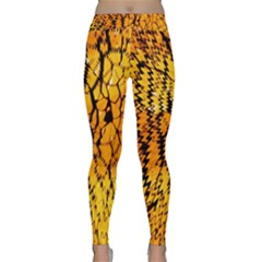 Yellow Chevron Zigzag Pattern Classic Yoga Leggings
