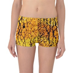 Yellow Chevron Zigzag Pattern Boyleg Bikini Bottoms