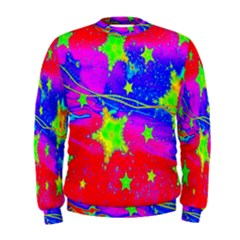 Red Background With A Stars Men s Sweatshirt