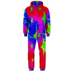 Red Background With A Stars Hooded Jumpsuit (Men)