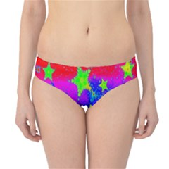 Red Background With A Stars Hipster Bikini Bottoms