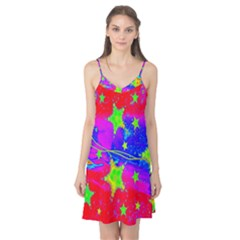 Red Background With A Stars Camis Nightgown