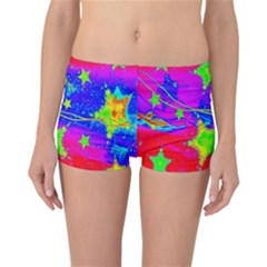 Red Background With A Stars Reversible Bikini Bottoms