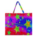 Red Background With A Stars Zipper Large Tote Bag View1