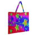 Red Background With A Stars Zipper Large Tote Bag View2