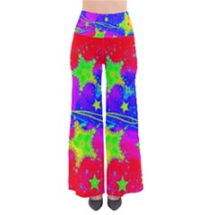 Red Background With A Stars Pants