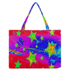 Red Background With A Stars Medium Zipper Tote Bag