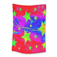 Red Background With A Stars Small Tapestry