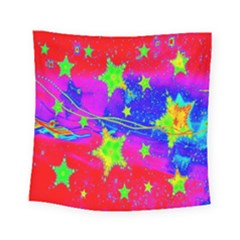 Red Background With A Stars Square Tapestry (small)