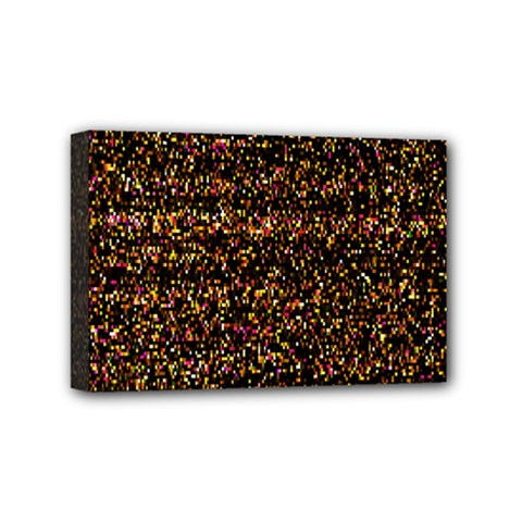 Colorful And Glowing Pixelated Pattern Mini Canvas 6  X 4