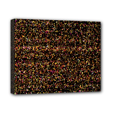 Colorful And Glowing Pixelated Pattern Canvas 10  X 8