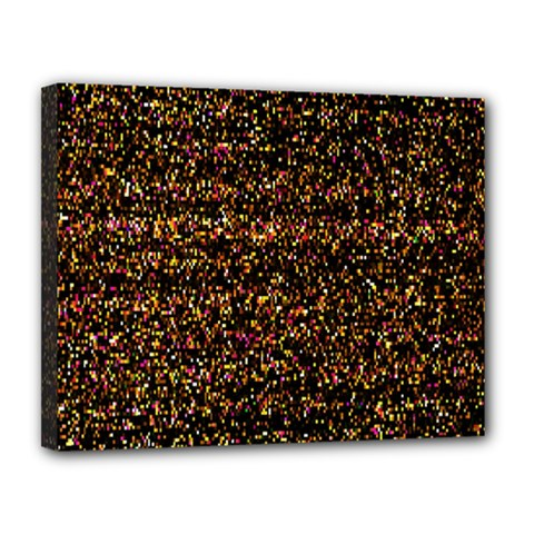 Colorful And Glowing Pixelated Pattern Canvas 14  X 11