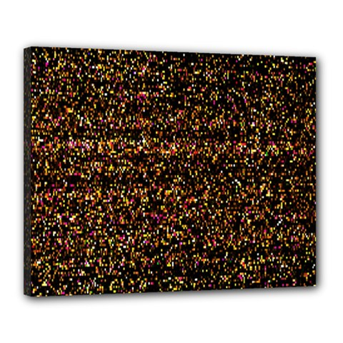 Colorful And Glowing Pixelated Pattern Canvas 20  X 16