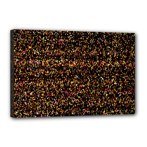 Colorful And Glowing Pixelated Pattern Canvas 18  X 12