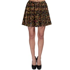 Colorful And Glowing Pixelated Pattern Skater Skirt