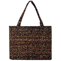 Colorful And Glowing Pixelated Pattern Mini Tote Bag