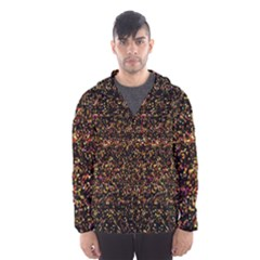 Colorful And Glowing Pixelated Pattern Hooded Wind Breaker (men)