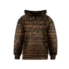 Colorful And Glowing Pixelated Pattern Kids  Pullover Hoodie