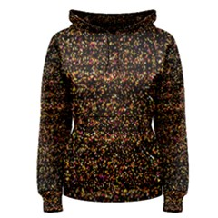 Colorful And Glowing Pixelated Pattern Women s Pullover Hoodie