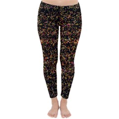 Colorful And Glowing Pixelated Pattern Classic Winter Leggings