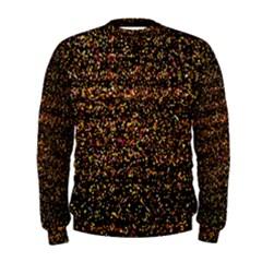 Colorful And Glowing Pixelated Pattern Men s Sweatshirt