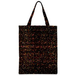 Colorful And Glowing Pixelated Pattern Zipper Classic Tote Bag