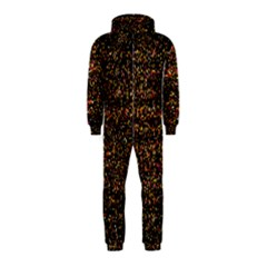 Colorful And Glowing Pixelated Pattern Hooded Jumpsuit (kids)