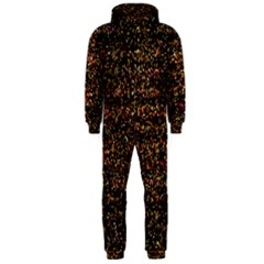 Colorful And Glowing Pixelated Pattern Hooded Jumpsuit (men)