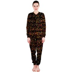 Colorful And Glowing Pixelated Pattern Onepiece Jumpsuit (ladies)