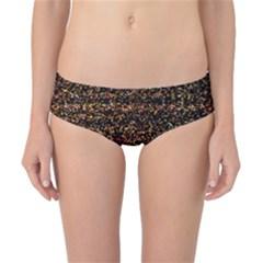 Colorful And Glowing Pixelated Pattern Classic Bikini Bottoms