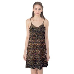 Colorful And Glowing Pixelated Pattern Camis Nightgown