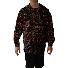 Colorful And Glowing Pixelated Pattern Hooded Wind Breaker (kids)