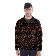 Colorful And Glowing Pixelated Pattern Wind Breaker (men)