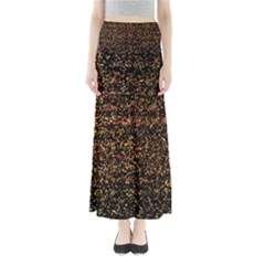 Colorful And Glowing Pixelated Pattern Maxi Skirts
