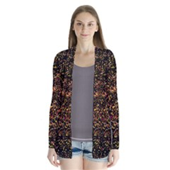 Colorful And Glowing Pixelated Pattern Cardigans