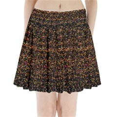 Colorful And Glowing Pixelated Pattern Pleated Mini Skirt